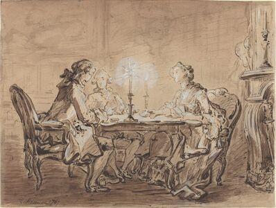 Louis Durameau, 'A Game of Cards', 1767
