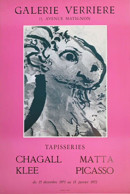 Marc Chagall, 'Chagall, Klee, Matta, Picasso, Galerie Verriere Poster with image by Marc Chagall', 1972