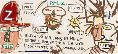 Jean-Michel Basquiat, 'Hollywood Africans in front of the Chinese Theater with Footprints of Movie Stars', 1983-2015