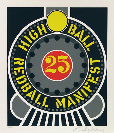 Robert Indiana, 'High Ball Red Ball Manifest 25', 1996