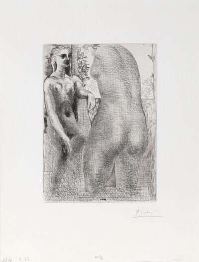 Pablo Picasso, 'Modele et grande sculpture de dos  (Marie-Therese regardent son corpse sculpte), from Suite Vollard ', 1933