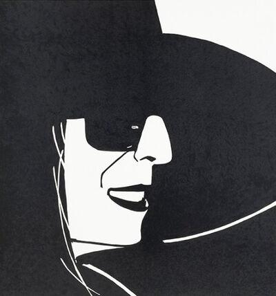 Alex Katz, 'Alex Katz, Large Black Hat Ada', 2013