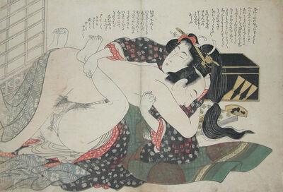 Kikukawa Eizan, 'Stop Talking and Make Love!', ca. 1820