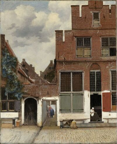 Johannes Vermeer, 'View of Houses in Delft, Known as 'The Little Street'', ca. 1658