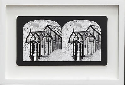 Penelope Stewart, 'Ruin Gazing Vol 1, paradise gardens - No: 016 - Greenhouse at Spidina House, framed stereoscopic cards created by artist', 2015