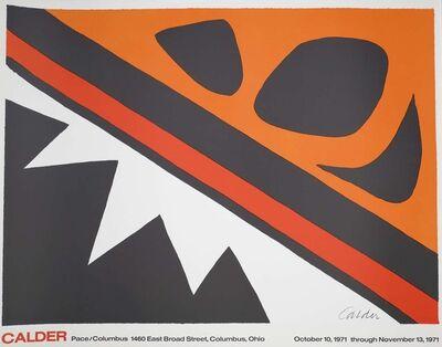 Alexander Calder, 'Vintage Exhibition Pace/Columbus Poster', 1971