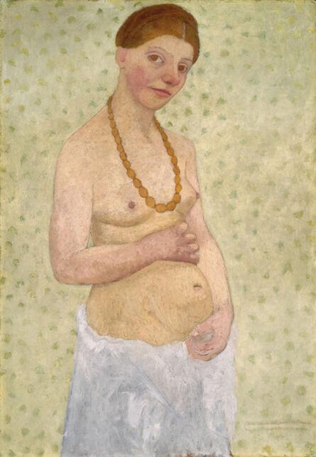 Paula Modersohn-Becker, 'Selbstbildnis am 6. Hochzeitstag (Self-Portrait on the Sixth Wedding Day)', 1908