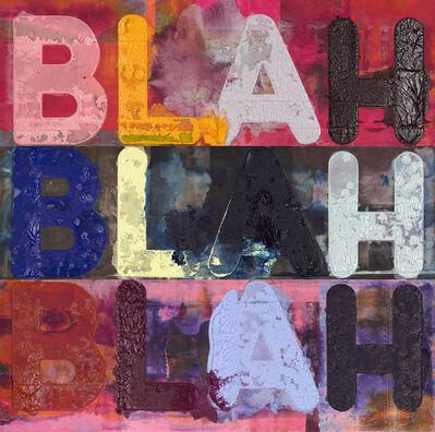 Mel Bochner, 'Blah, Blah, Blah', 2018