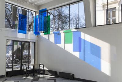 Siri Aurdal, 'kortstokk blå/grønn', 2000