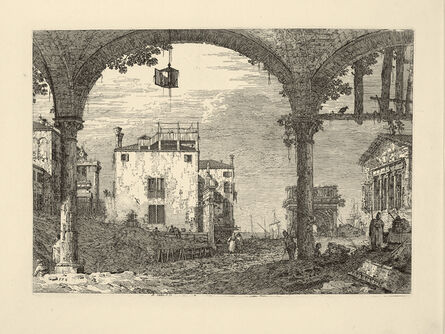 ANTONIO CANAL called CANALETTO, 'The Portico with the Lantern', ca. 1744