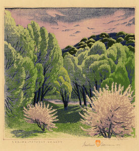 Gustave Baumann, 'Spring - Tesuque Valley', 1954