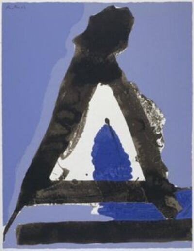 Robert Motherwell, 'The Basque Suite: Untitled Blue and Black ', 1971
