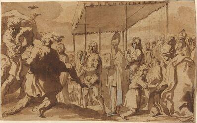Elisabetta Sirani, 'The Deliverance of the Demoniac of Constantinople by Saint John Chrysostom', ca. 1650