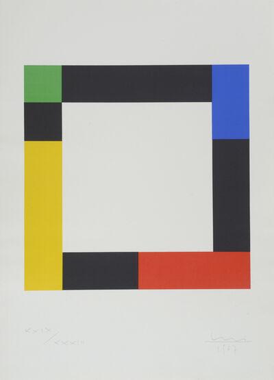Max Bill, 'Square in Opposing Progressions', 1967