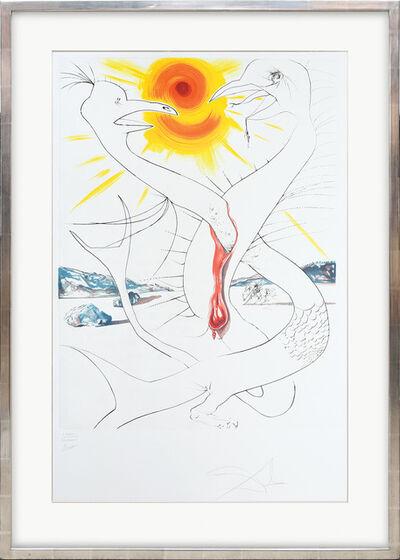 Salvador Dalí, 'La Caducée de Mars alimenté par la boule de feu de Jupiter. (The Caduceus of Mars Nourished by Jupiter's Ball of Fire.)', 1974