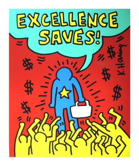 Keith Haring, 'Excellence Saves', 1990