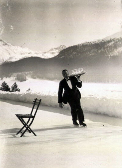 Alfred Eisenstaedt, 'Ice Skating Waiter - Vintage', 1932