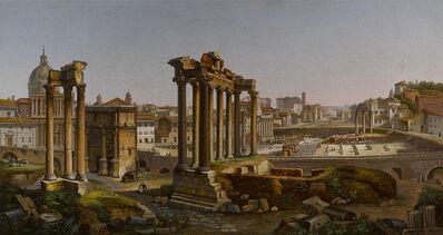 DOMENICO MOGLIA, 'ROMAN FORUM MICROMOSAIC', ca. 1850