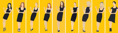 Alex Katz, 'Black Dress (Suite of 9)', 2015