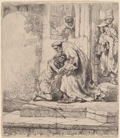Rembrandt van Rijn, 'Return of the Prodigal Son', 1636