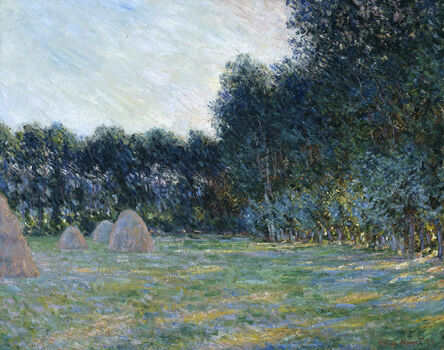 Claude Monet, 'Meadow with Haystacks near Giverny', 1885