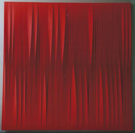 Pino Manos, 'Sincronico rosso fuoco', 2015