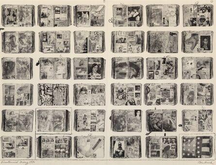 Peter Beard, 'Bicentennial Diary (diptych)', 1976