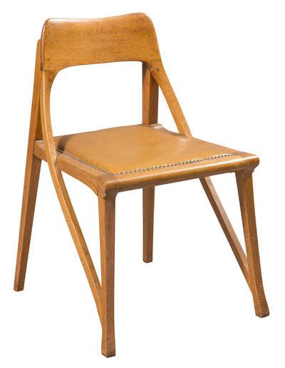 Richard Riemerschmid, 'Leather Upholstered Oak Music Room Chair', circa 1898