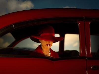 Tyler Shields, 'Girl In The Red Car', 2021