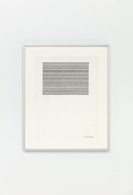Carl Andre, 'aaaaaaaaaaaaaaaaaaaaaaaaaaaaaaaaaaaaaaaaaaaaaaaaaaaaaaaaaaaa', 1958 -1963