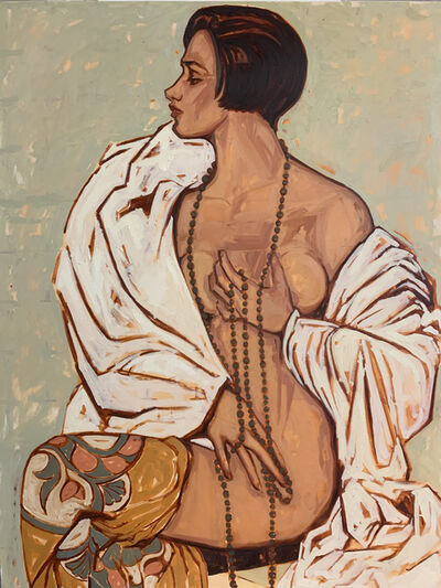 Charica Daugherty, 'Zipporah, the Cushite Wife of Moses- Contemporary Rendition of Historical / Biblical Black Woman / Female Nude Oil Painting', 2020