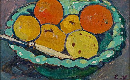 Louis Valtat, 'Coupe Verte, Orange et Citrons', 1909