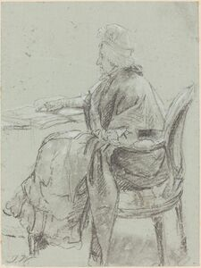 """James Ward, 'Study of an Elderly Woman for """"Disobedience Discovered""""', ca. 1797"""