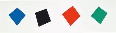 Ellsworth Kelly, 'Blue/Black/Red/Green (G. 1883, A. 293)', 2001