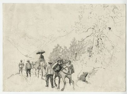 Joseph Pennell, 'Going to the Riffel [Switzerland]', 1889