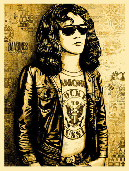 Shepard Fairey, 'Tommy Ramone (Gold)', 2016