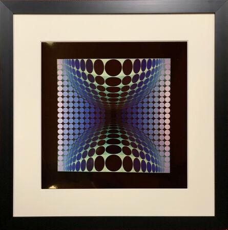 Victor Vasarely, 'Vega [Blue]', 1974