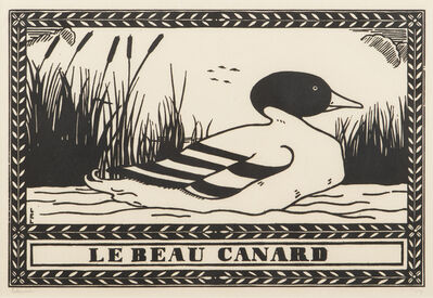 Jean-Emile Laboureur, 'Le Beau Canard', 1912