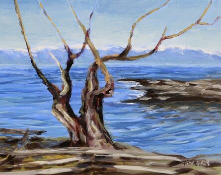 Terrill Welch, 'Arbutus Trunks Against the Salish Sea', 2021