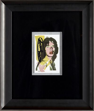 Andy Warhol, 'Mick Jagger FS.II.143 Gallery Invitation Announcement', 1975