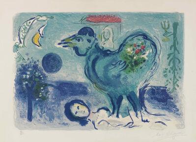 Marc Chagall, 'Paysage au Coq', 1958
