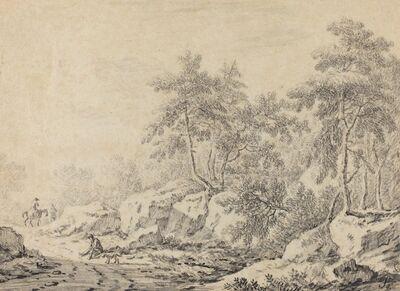 Johann Christoph Dietzsch, 'Travelers in a Rocky Wood'