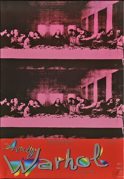Andy Warhol, 'ANDY WARHOL, Viaggio in Italia Italian Museum/Art Exhibition Oversize Poster 1997 The Last Supper!', 1997