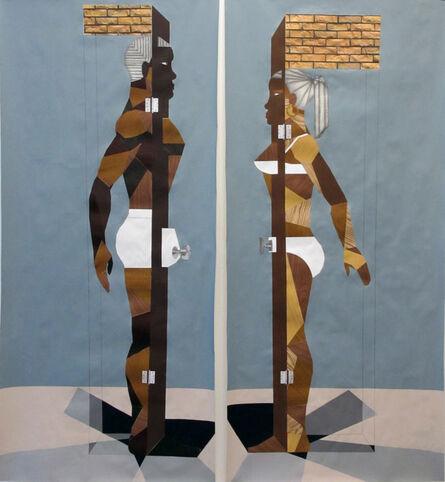 Derrick Adams, 'Human Structure Casting Shadows pair ', 2012