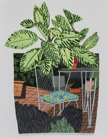 Jonas Wood, 'Landscape Pot with Flower Chair', 2015