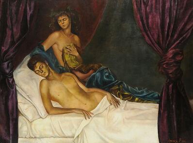 Leonor Fini, 'L'Alcove (Self-portrait with Nico Papatakis)', 1941