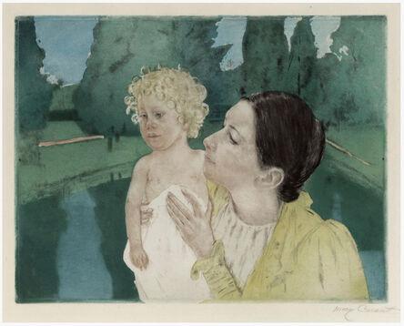 Mary Cassatt, 'By the Pond (Fourth State)', ca. 1896