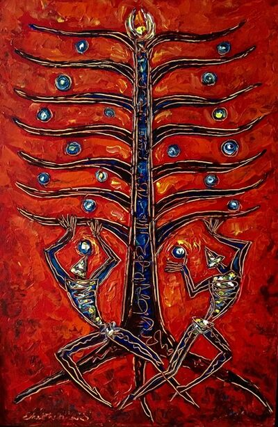 Ekatherina S, 'Tree of Life Red'