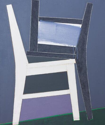 Mao Xuhui 毛旭辉, 'Two chairs black and white', 2009