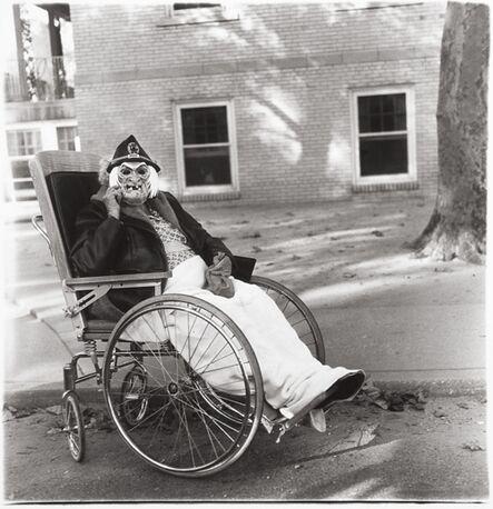 Diane Arbus, 'Masked Woman in a Wheelchair, PA', 1970